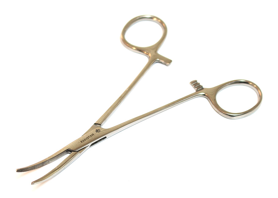 "Kelly Hemostat Forceps Curved 5.5"" Surgical Dental Instruments"
