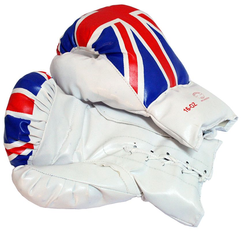 United Kingdom  16 Oz. Boxing Gloves 1 Pair Vinyl Leather Glove Practice & Training