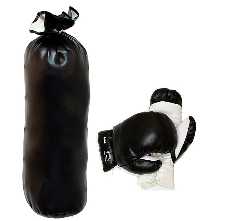 Black & White Mini Punching Bag Set 8oz to 10oz