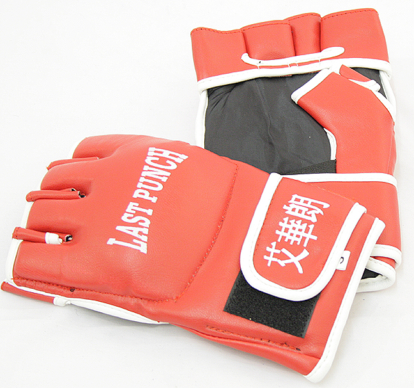 Leather Wrist wrap Heavy Bag Gloves Boxing Training Gloves