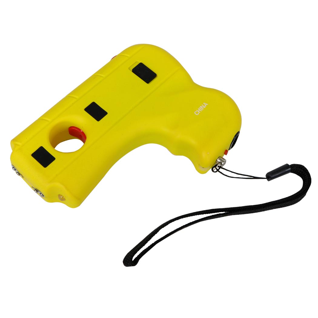 Defender Yellow Color Hand 10 Mil Stun Gun LED Light & Safety Switch