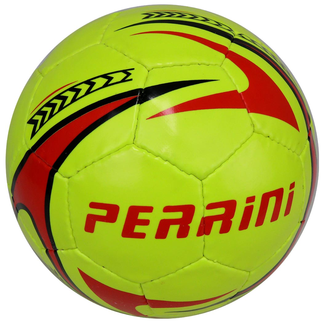 Perrini Soccer Ball Orange/Black/Blue All Weather Indoor Outdoor Official Size 5