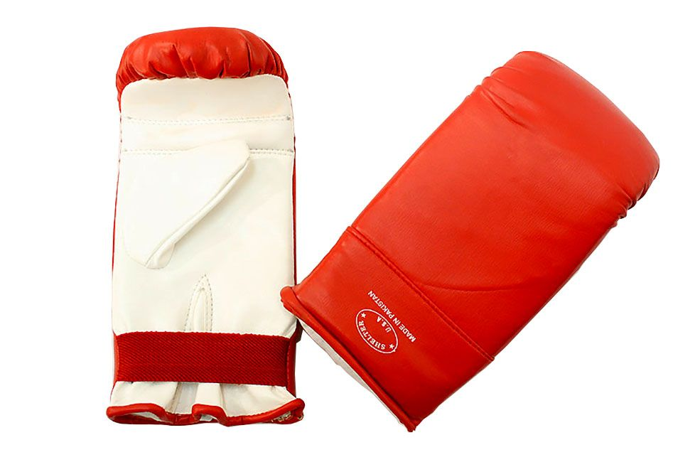 Last Punch Ultimate Fight Punch Bag Gloves  Red& White S M L XL Size
