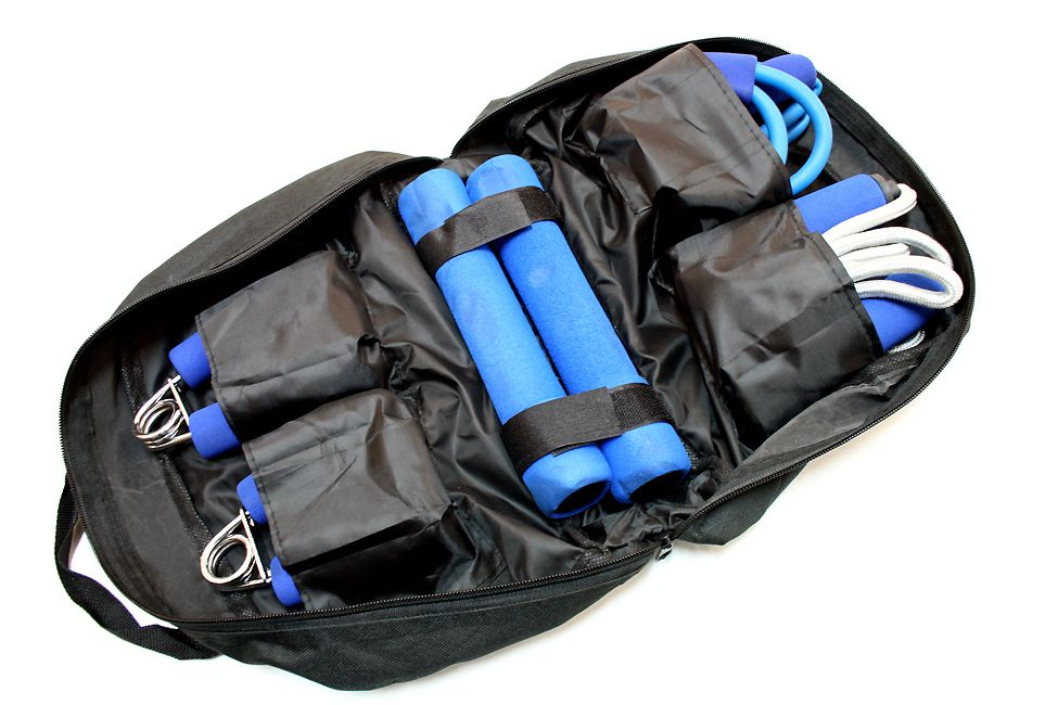 Work Out Exercise Kit With Carrying/ Storage Case 4 Pc Set New