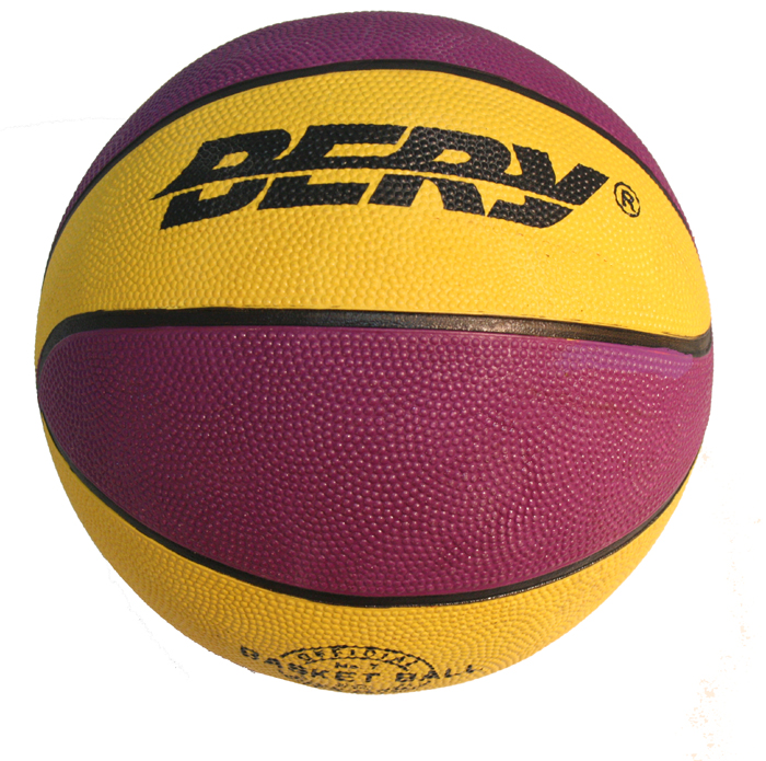 Unisex Indoor Outdoor Performer Purple & Yellow Basket Ball Size 7