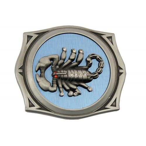 Scorpion Image Stainless Steel Belt Buckle Lighter Storage/Holder New Heavy Duty
