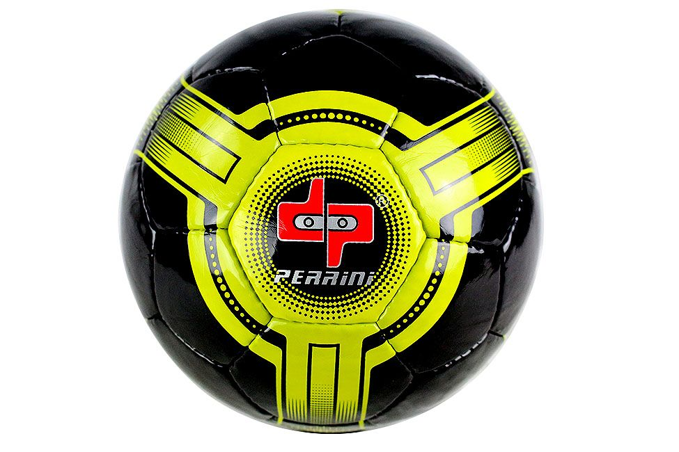 Perrini Futsal Ball Black Yellow Low Bounce Football Official Size 4