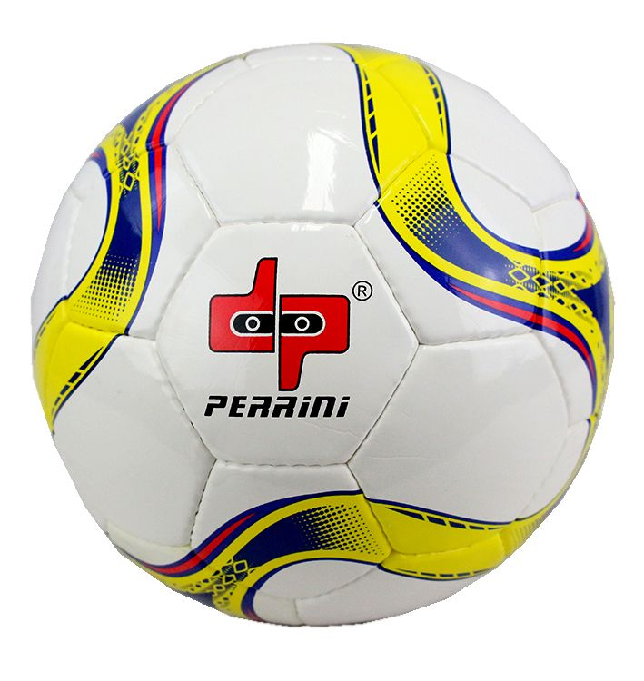 Perrini Match Soccer Ball Training Football Yellow & Blue Official Size 5