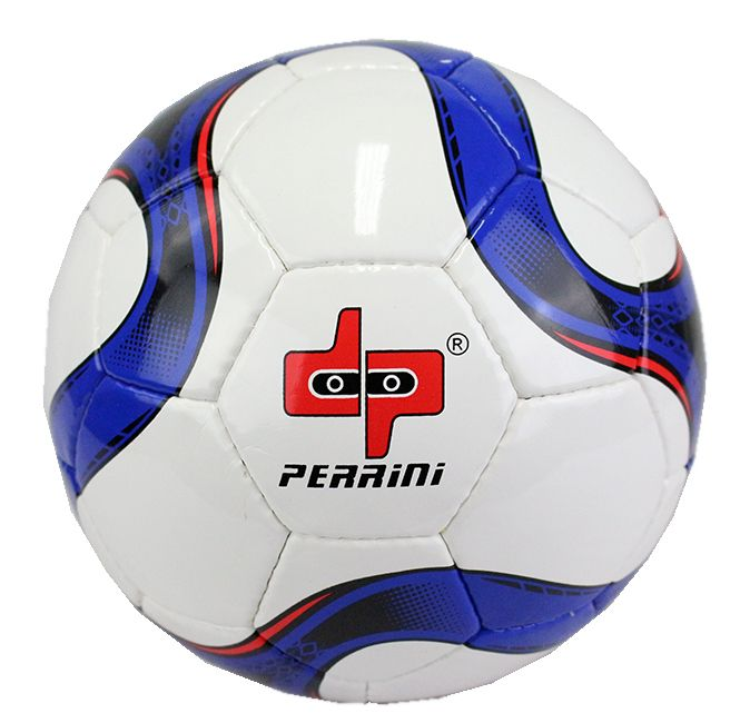 Perrini Match Soccer Ball Training Football Black & Blue Official Size 5