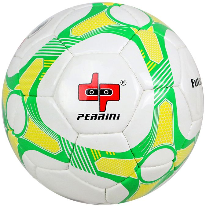 Perrini Match Futsal Soccer Ball Green Yellow White Football Training Official Size 5