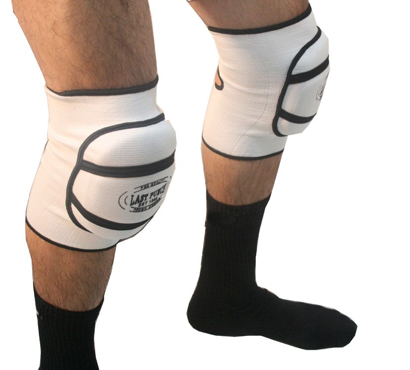 White Professional Protective Good Quality Knee Pads S to XL Size