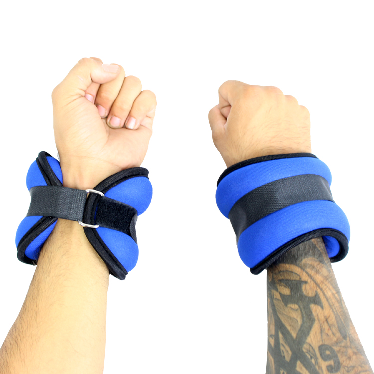 5LBS Perrini Blue Extended Fit Wrists/Ankle Weights