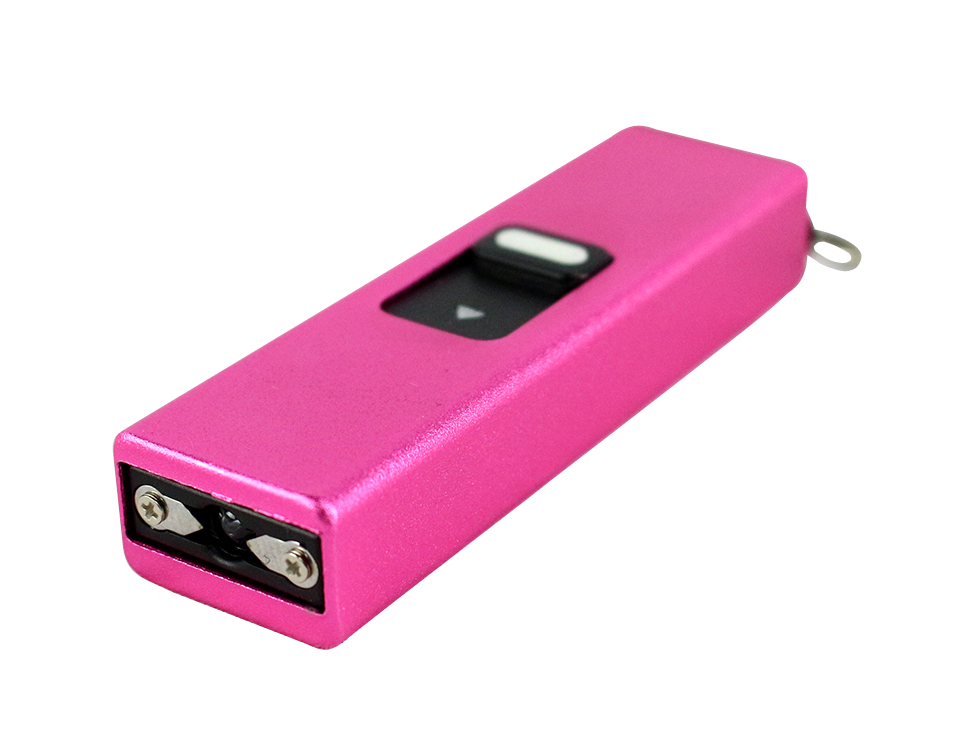 Defender Xtreme Pink Mini Self Defense Stun Gun Flashlight
