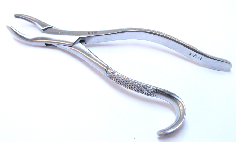 1pc Dental Instrument 18R Extracting Forceps Stainless Steel