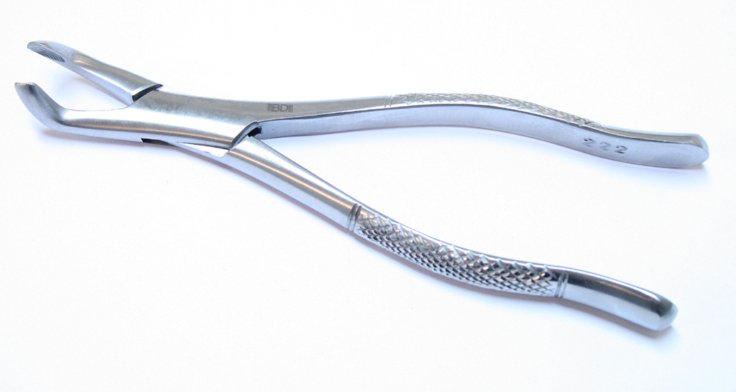 222 1pc Dental Instrument Extracting Forceps Stainless Steel