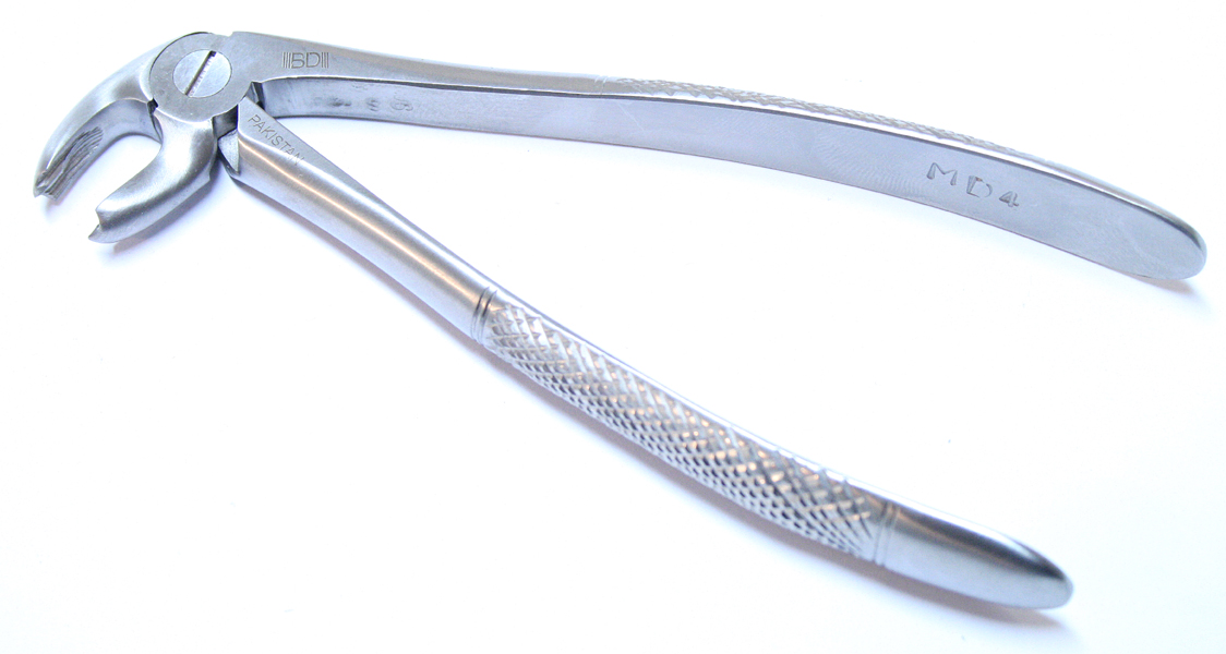 1pc Dental Instrument 4MD Extracting Forceps Stainless Steel