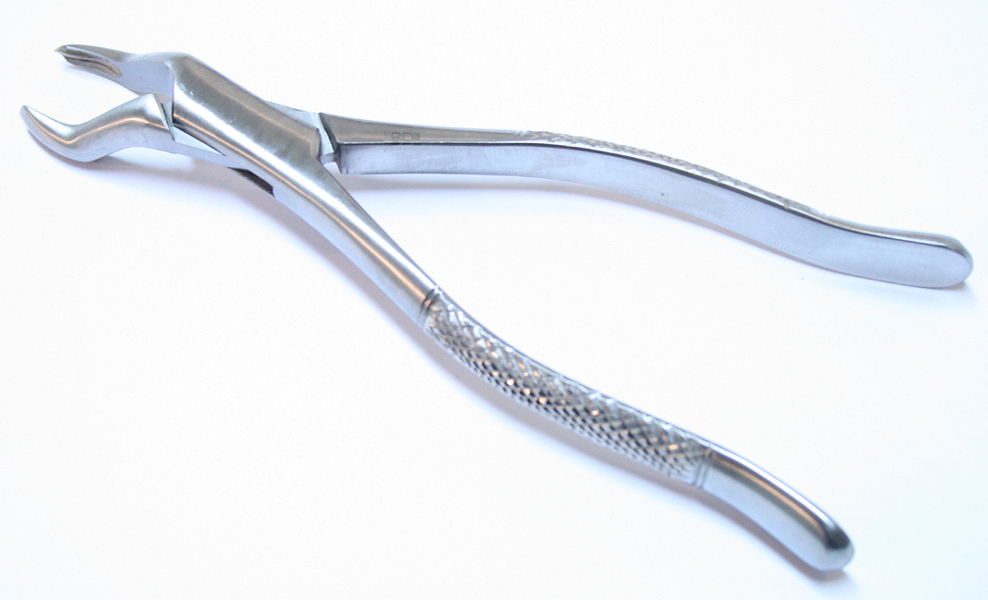 Dental Instruments Extracting Forceps 53L Stainless Steel