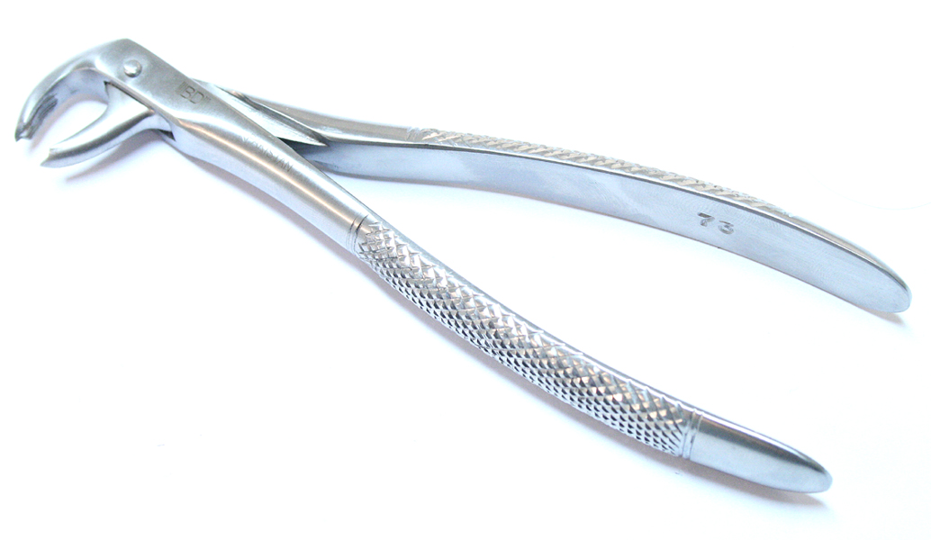 1pc Dental Instrument 73 Extracting Forceps Stainless Steel