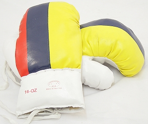 Colombia  16 Oz. Boxing Gloves 1 Pair Vinyl Leather Glove Practice & Training