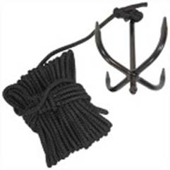 Grappling Anchor Hook with Nylon Ninja Rope Cadet Bushcraft
